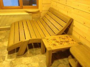 мебель из дерева для бани пермь