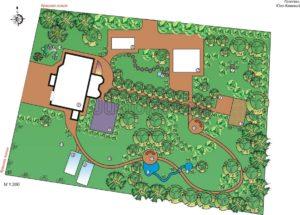 недорогой проект сада, купить недорогой ландшафтный проект в перми